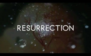 Resurrection intro screen grab with veins